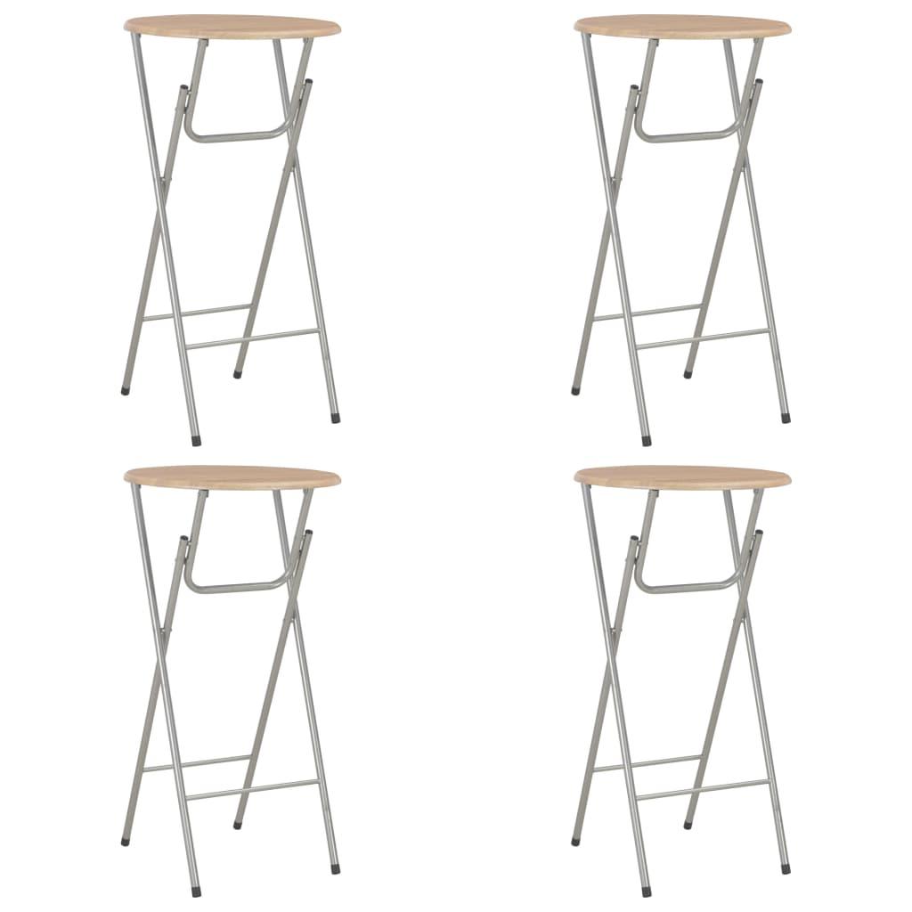 vidaXL Barové stoly 4 ks dubový odstín 60 x 112 cm MDF