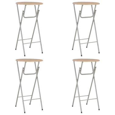 vidaXL Baro stalai, 4vnt., ąžuolo sp., 60x112 cm, MDF[1/7]
