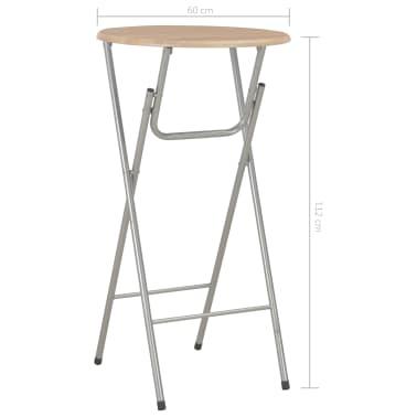 vidaXL Baro stalai, 4vnt., ąžuolo sp., 60x112 cm, MDF[7/7]
