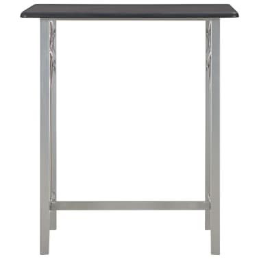 vidaXL Set mesa y sillas altas de cocina 3 piezas madera y ...