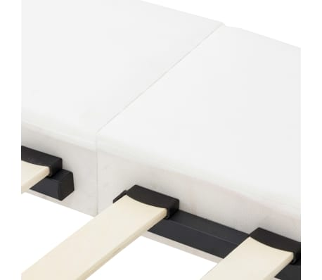vidaXL Cadre de lit avec LED Blanc Similicuir 180 x 200 cm[5/7]