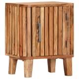 vidaXL Naktinė spintelė, 40x30x50cm, akacijos medienos masyvas
