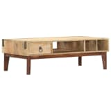 vidaXL Coffee Table 110x55x40 cm Solid Mango Wood