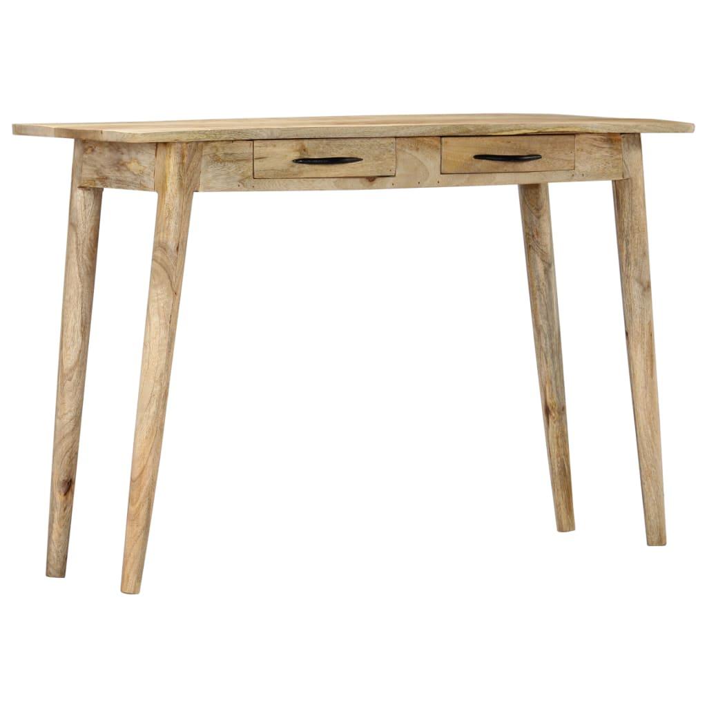 vidaXL Masă consolă, 115 x 40 x 75 cm, lemn masiv de mango nefinisat imagine vidaxl.ro
