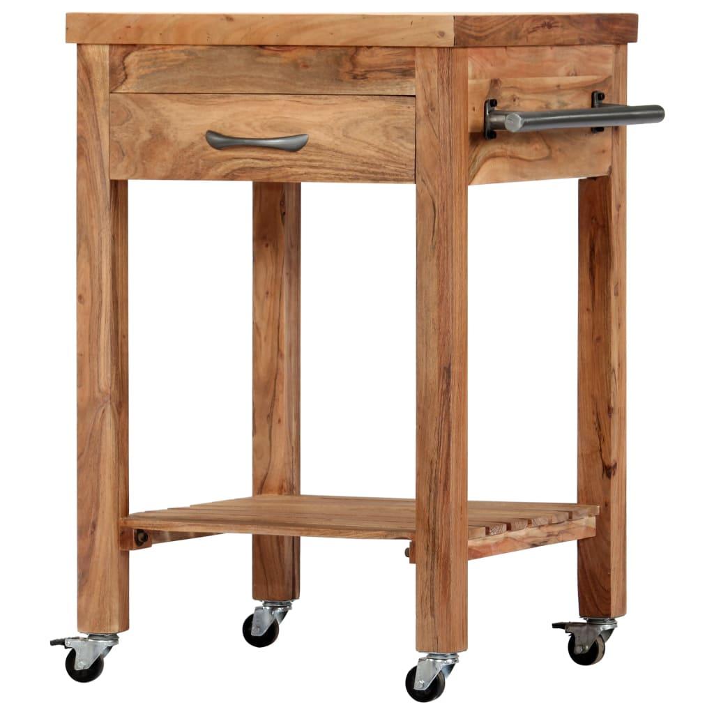 vidaXL Cărucior de bucătărie, 58 x 58 x 89 cm, lemn masiv de acacia poza 2021 vidaXL