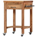 vidaXL Kitchen Trolley 58x58x89 cm Solid Acacia Wood