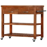 vidaXL Kitchen Trolley 100x48x89 cm Solid Acacia Wood