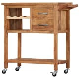 vidaXL Kitchen Trolley 80x45x91 cm Solid Acacia Wood