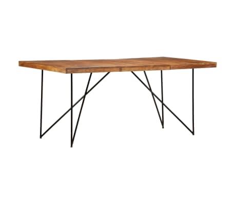 vidaXL Dining Table 180x90x76 cm Solid Acacia Wood