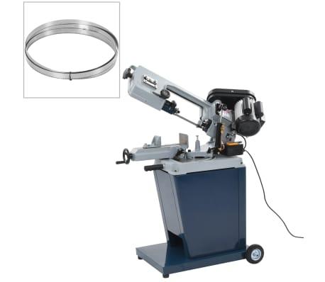 vidaXL Scie à Ruban Acier 200 mm Sciage Electrique Machine Atelier Garage