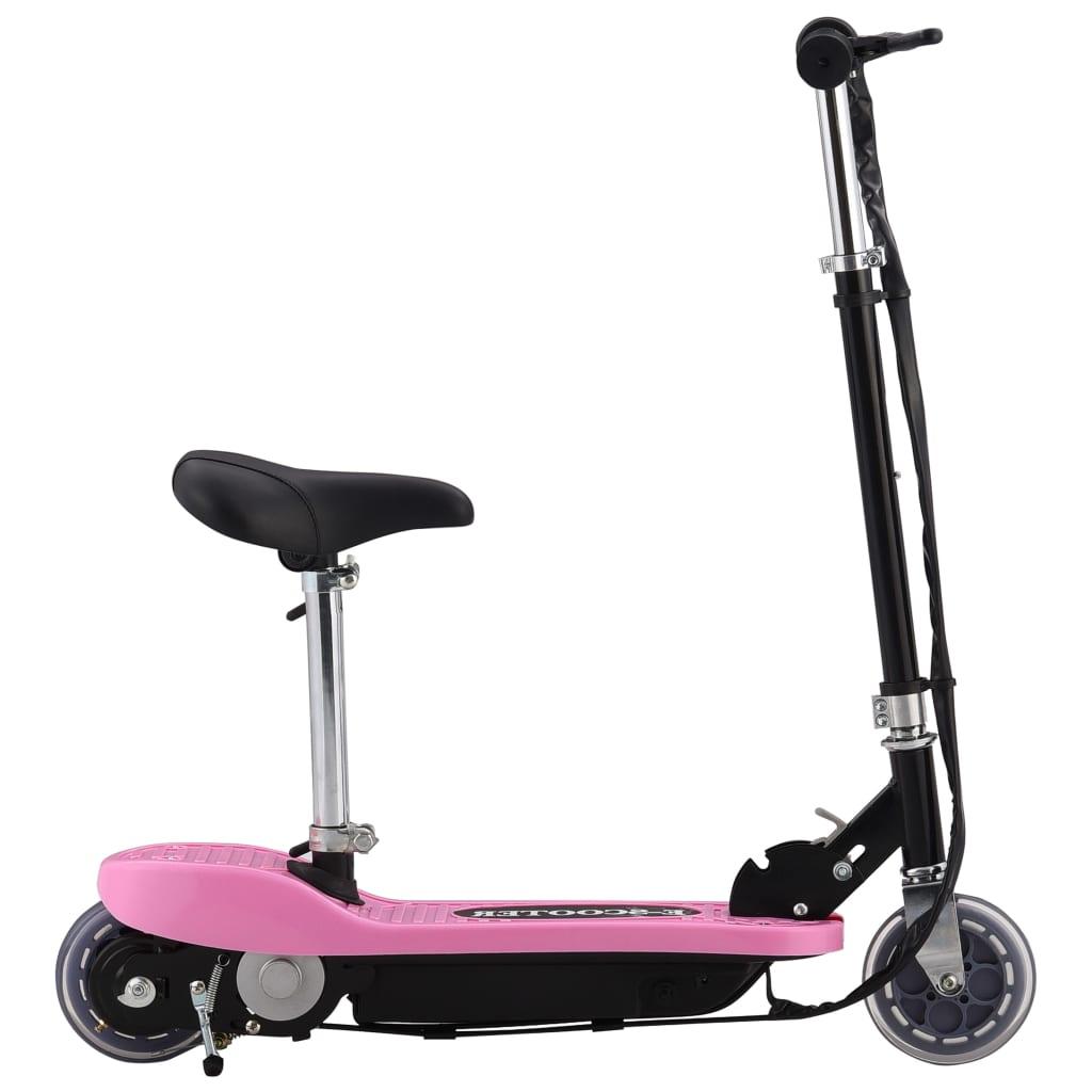 vidaXL Step elektrisch met zitje 120 W roze