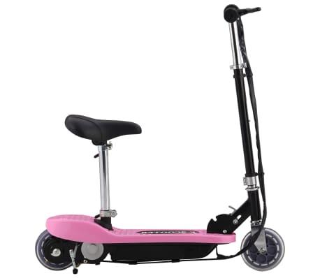 vidaXL elektrisk løbehjul med sæde 120 W pink