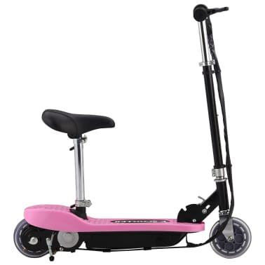 vidaXL Elektrinis paspirtukas su sėdyne, rožinės spalvos, 120 W[1/10]