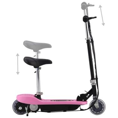vidaXL Elektrinis paspirtukas su sėdyne, rožinės spalvos, 120 W[2/10]