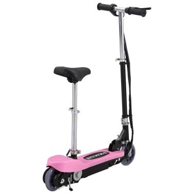 vidaXL Elektrinis paspirtukas su sėdyne, rožinės spalvos, 120 W[3/10]