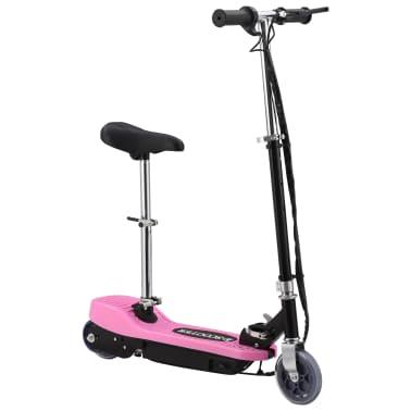vidaXL Elektrinis paspirtukas su sėdyne, rožinės spalvos, 120 W[4/10]