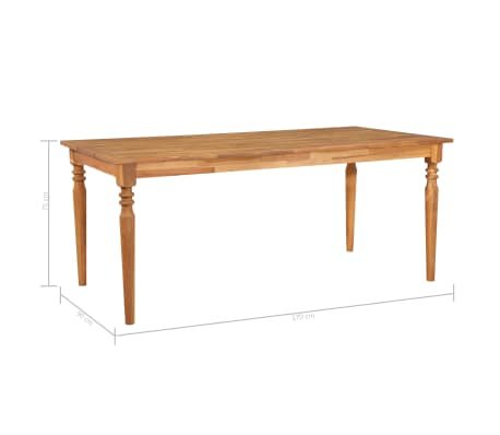 vidaXL Valgomojo stalas, 170x90x75cm, akacijos med. masyvas (44256)[5/5]