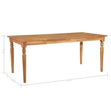 vidaXL Valgomojo stalas, 170x90x75cm, akacijos medienos masyvas[5/5]