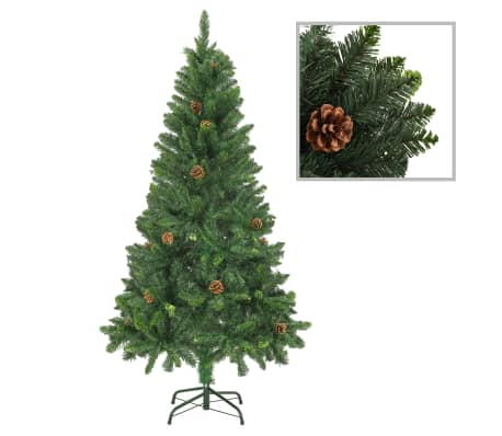 vidaXL Artificial Christmas Tree with Pine Cones Green 150 cm