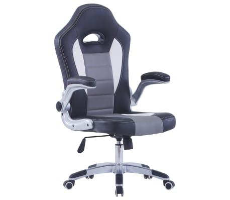 vidaXL fekete műbőr gamer szék