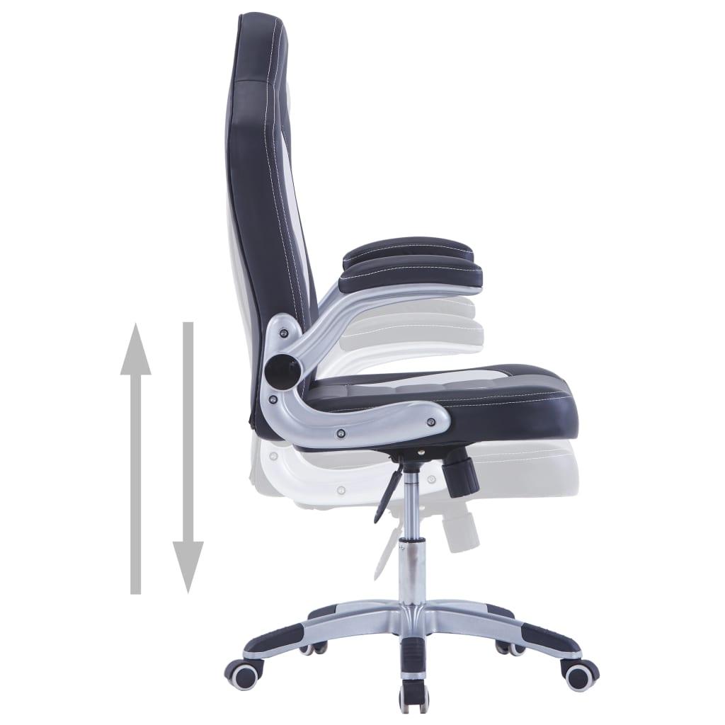 Herní židle černá umělá kůže
