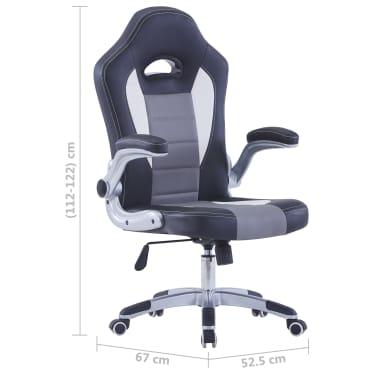 vidaXL Gamingstoel kunstleer zwart[9/9]
