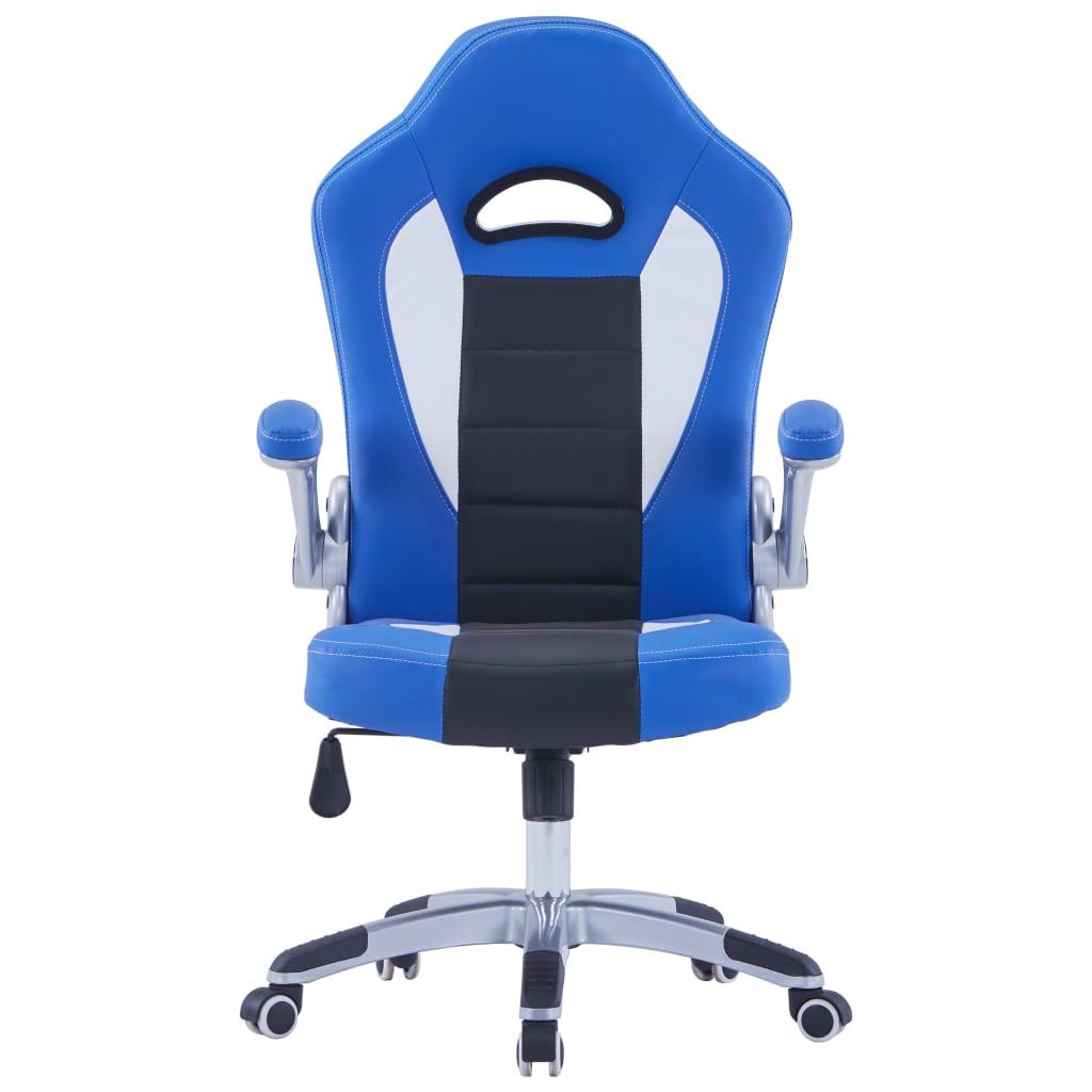 Herní židle modrá umělá kůže