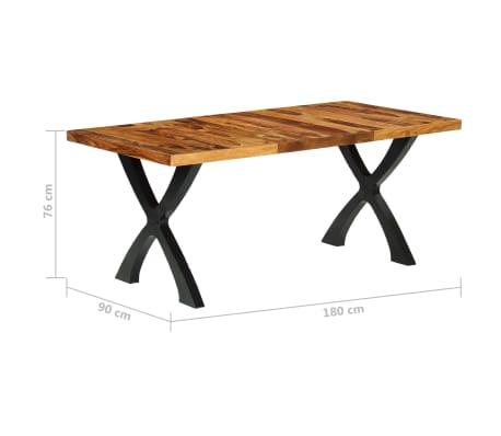 vidaXL Esstisch 180 x 90 x 76 cm Massivholz[10/14]
