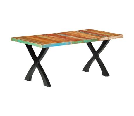 vidaXL Eettafel 180x90x76 cm massief gerecycled hout[1/14]