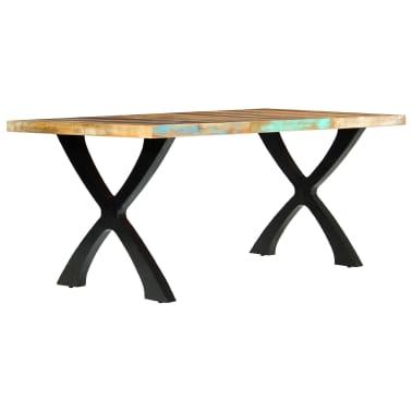 vidaXL Eettafel 180x90x76 cm massief gerecycled hout[2/14]