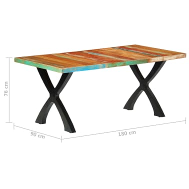 vidaXL Eettafel 180x90x76 cm massief gerecycled hout[10/14]