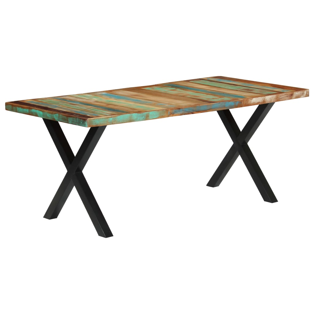 vidaXL Blagovaonski stol od masivnog obnovljenog drva 180 x 90 x 76 cm