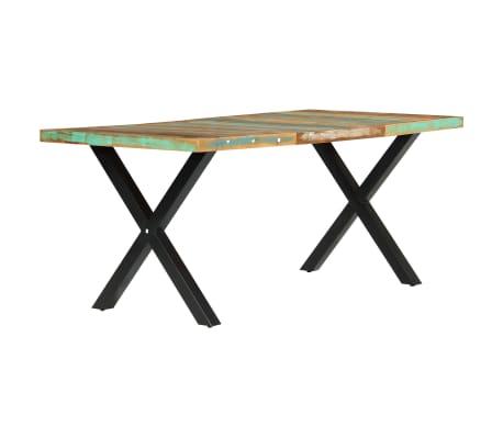 vidaXL Eettafel 180x90x76 cm massief gerecycled hout[2/13]