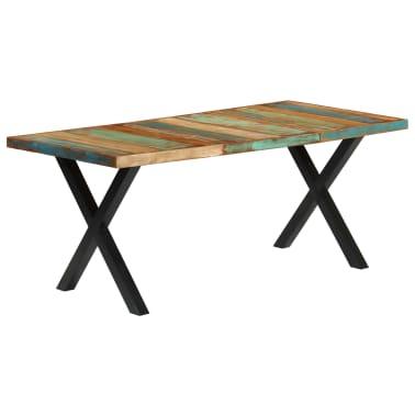 vidaXL Eettafel 180x90x76 cm massief gerecycled hout[11/13]