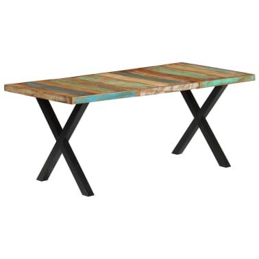 vidaXL Eettafel 180x90x76 cm massief gerecycled hout[12/13]