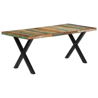 vidaXL Eettafel 180x90x76 cm massief gerecycled hout[10/13]