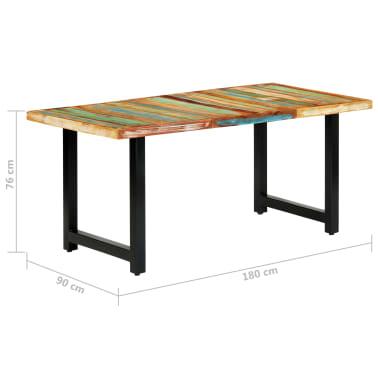 vidaXL Eettafel 180x90x76 cm massief gerecycled hout[9/14]