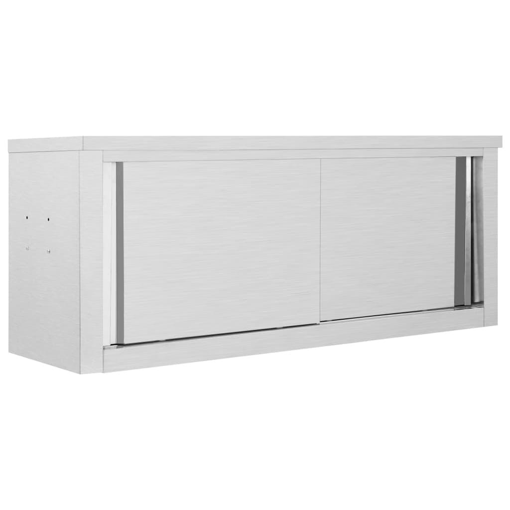 vidaXL Dulap bucătărie cu uși glisante, 120x40x50 cm, oțel inoxidabil vidaxl.ro