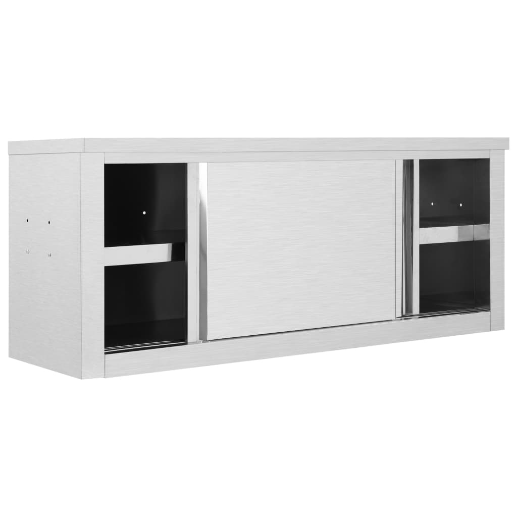 """Kitchen Wall Cabinet with Sliding Doors 47.2""""x15.7""""x19.7 ..."""