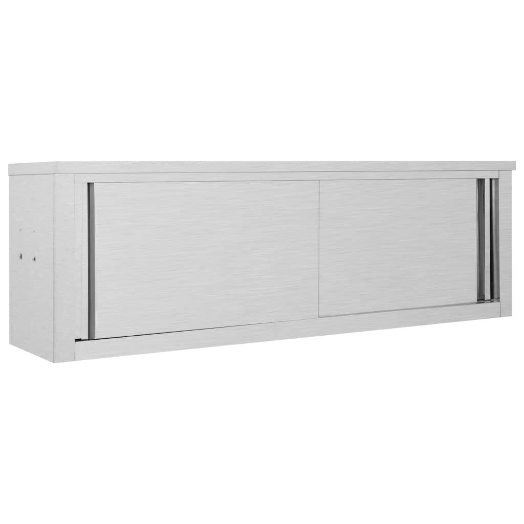 vidaXL Dulap perete bucătărie uși glisante 150x40x50cm oțel inoxidabil vidaxl.ro