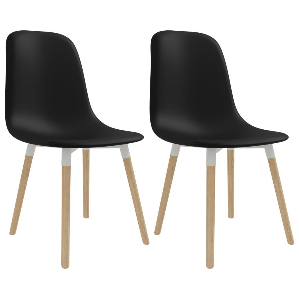 vidaXL Jídelní židle 2 ks černé plastové
