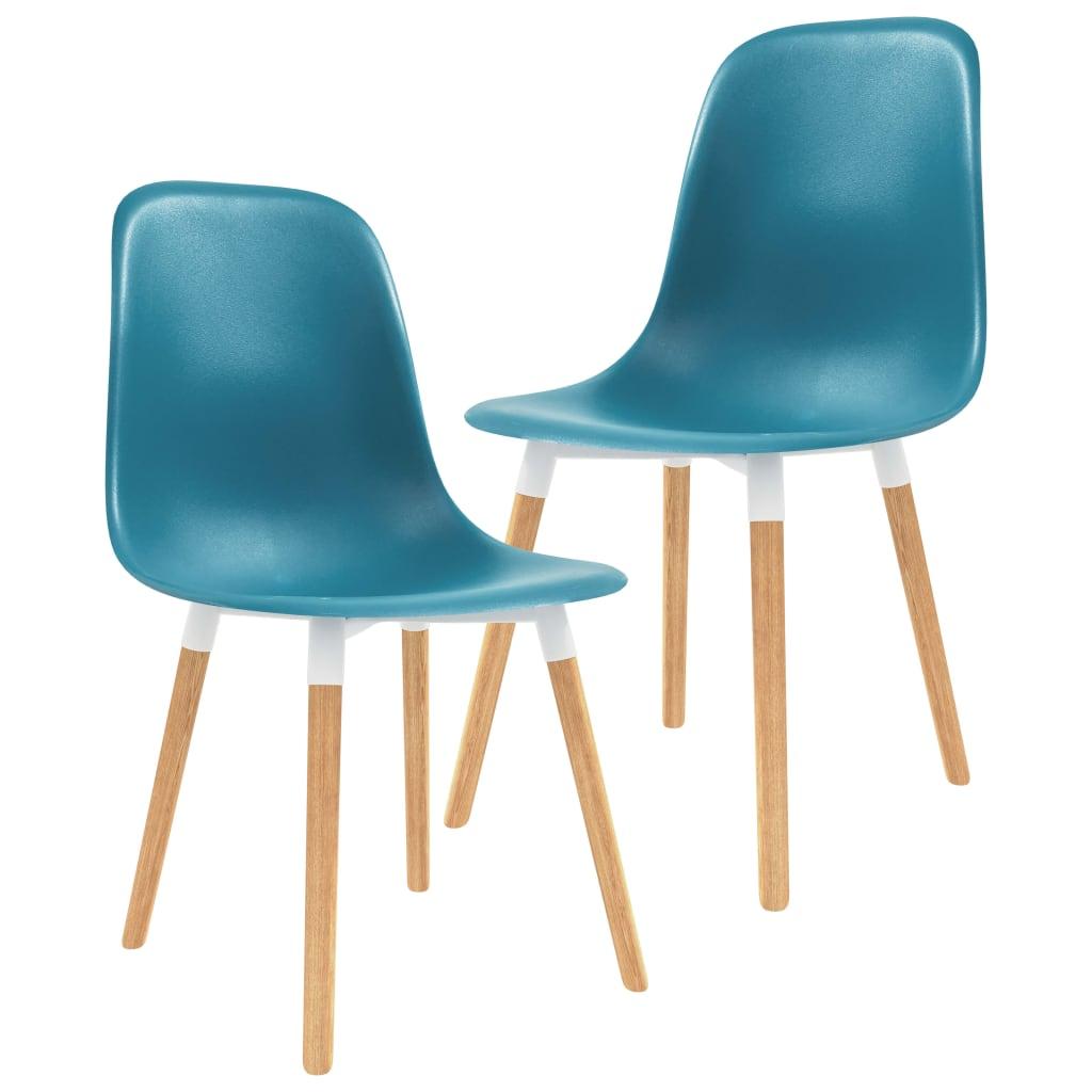vidaXL Jídelní židle 2 ks tyrkysové plast