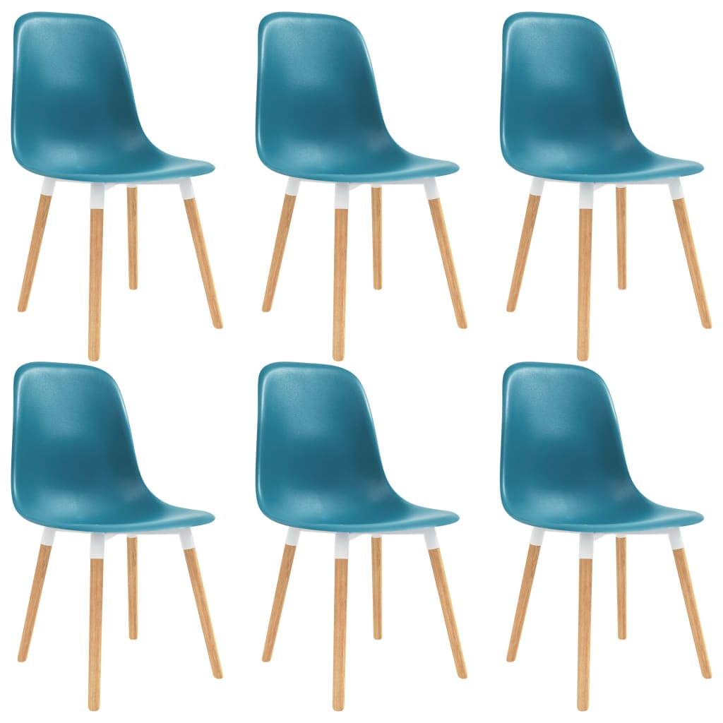 vidaXL Καρέκλες Τραπεζαρίας 6 τεμ. Τιρκουάζ Πλαστικές