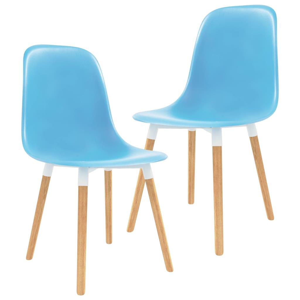 vidaXL Jídelní židle 6 ks modré plast