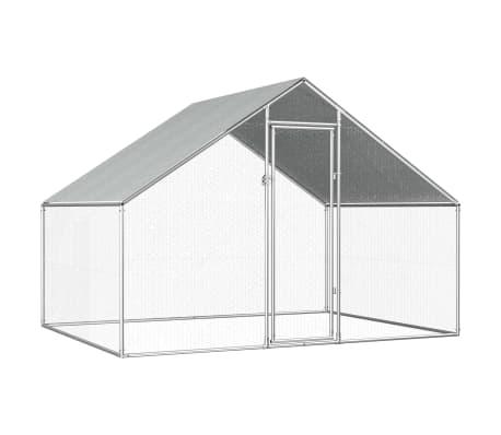 vidaXL Buitenhok voor kippen 2,75x2x1,92 m gegalvaniseerd staal  -picture