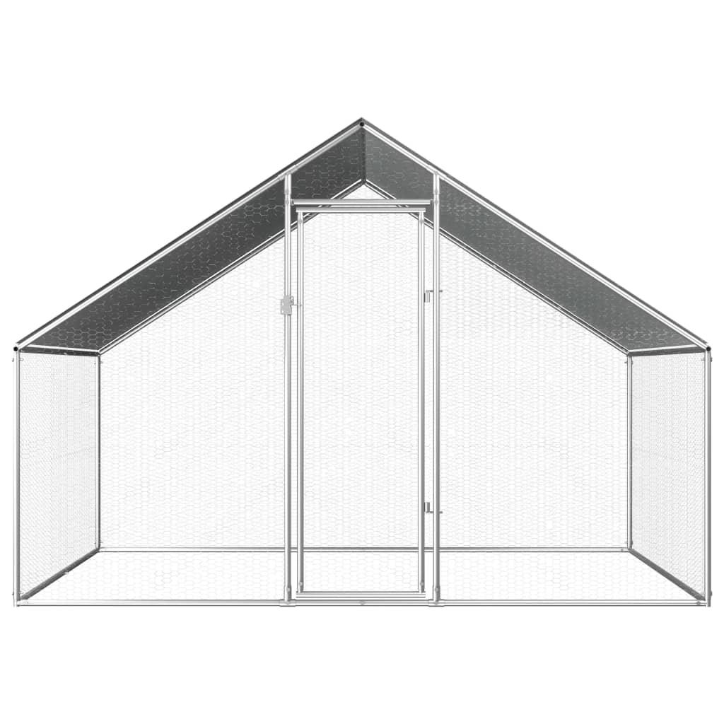 vidaXL Buitenhok voor kippen 2,75x2x2 m gegalvaniseerd staal