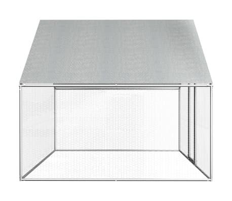 vidaXL Outdoor Chicken Cage 9'x6.6'x6.6' Galvanized Steel[3/6]