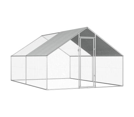 vidaXL Outdoor Chicken Cage 2.75x4x1.92 m Galvanised Steel