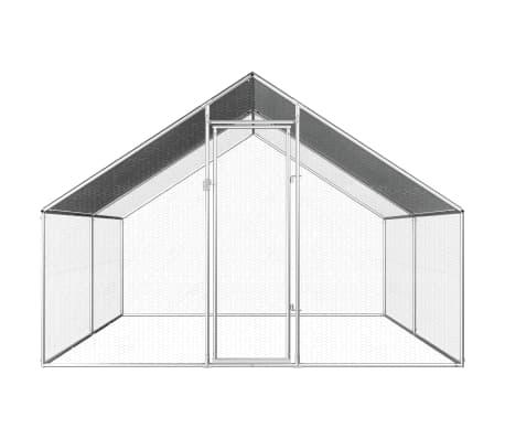 vidaXL Outdoor Chicken Cage 9'x13.1'x6.6' Galvanized Steel[2/6]