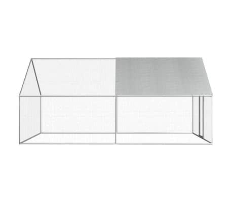 vidaXL Outdoor Chicken Cage 9'x13.1'x6.6' Galvanized Steel[3/6]